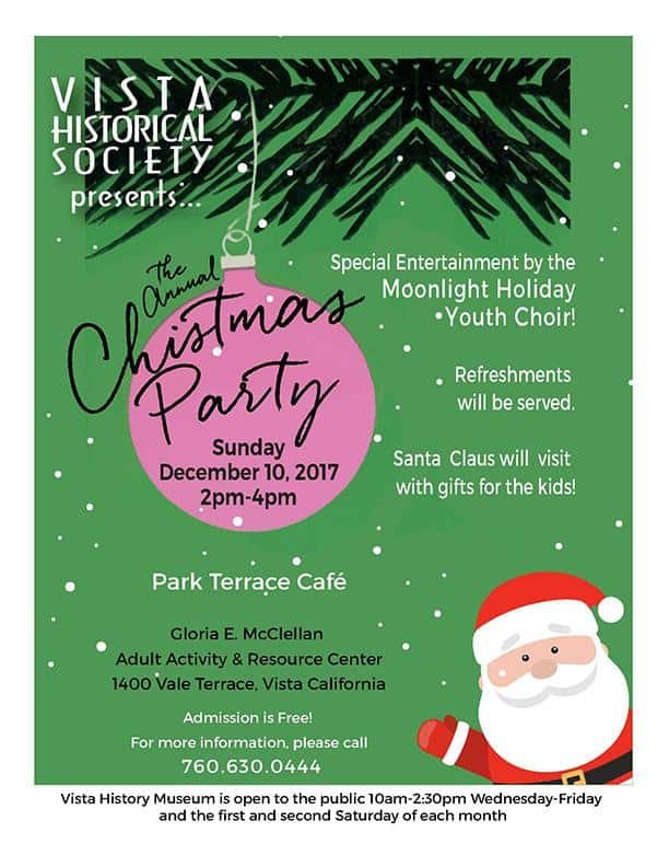 Vista Historical Society Christmas Party