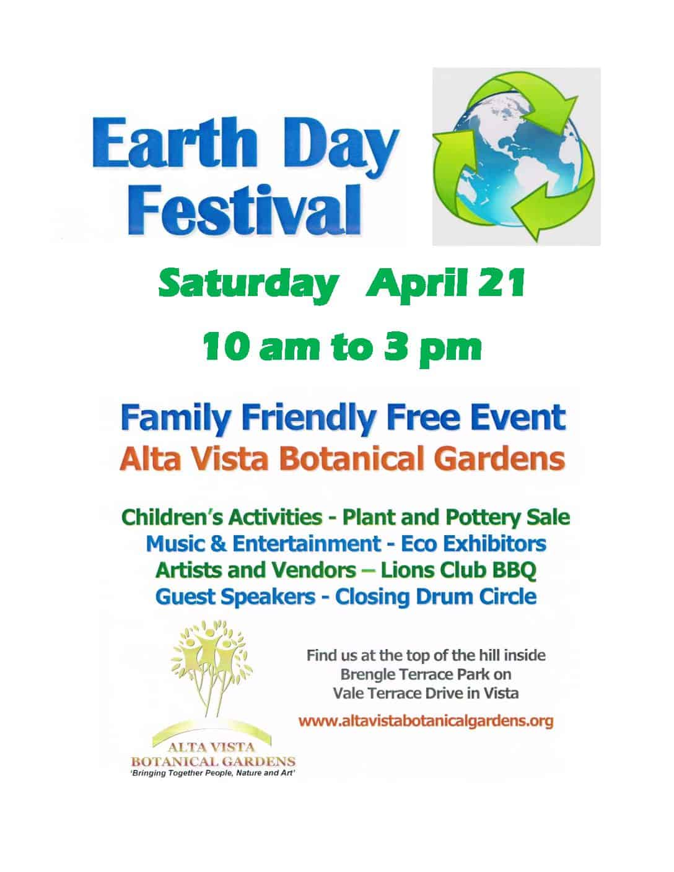 Earth Day Festival At Alta Vista Botanical Gardens
