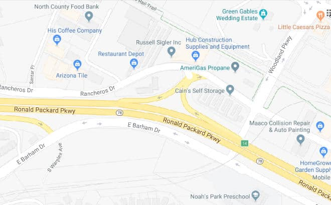 SR-78 Westbound Woodland Parkway On-ramp to Close for 82