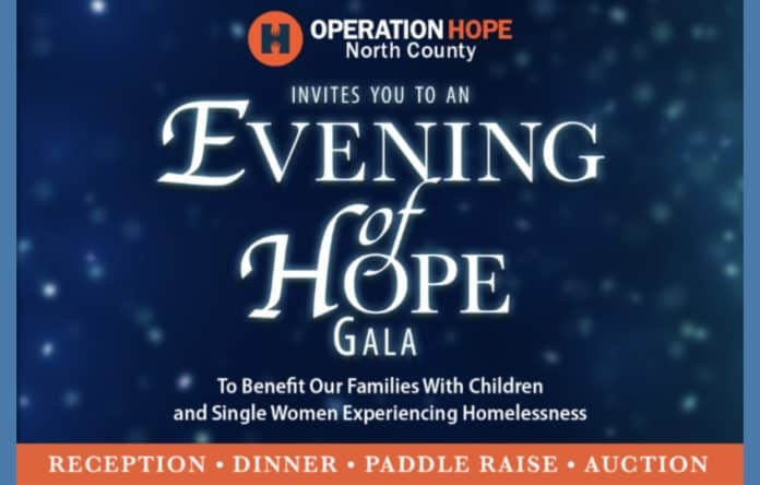 Operation HOPE-North County Announces 2019 Evening of HOPE